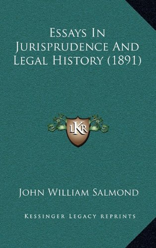 9781164737469: Essays In Jurisprudence And Legal History (1891)