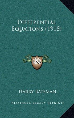 Differential Equations (1918): Bateman, Harry