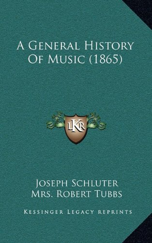 9781164783480: A General History Of Music (1865)