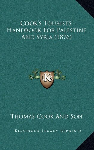 Cooks Tourists Handbook For Palestine And Syria
