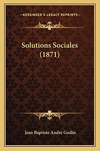 9781164956006: Solutions Sociales (1871)