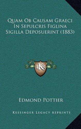 9781164964346: Quam OB Causam Graeci in Sepulcris Figlina Sigilla Deposuerint (1883)