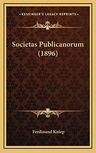 Societas Publicanorum (1896): Kniep, Ferdinand