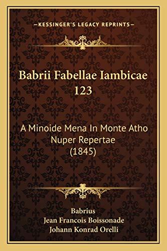 Babrii Fabellae Iambicae 123: A Minoide Mena