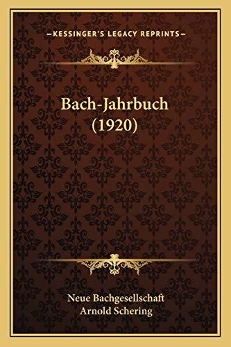 9781165346998: Bach-Jahrbuch (1920)