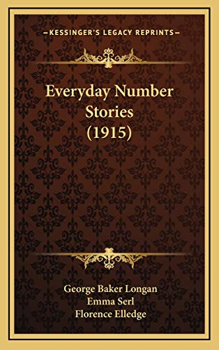 9781165352265: Everyday Number Stories (1915)