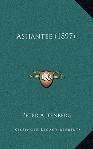 9781165356133: Ashantee (1897) (German Edition)