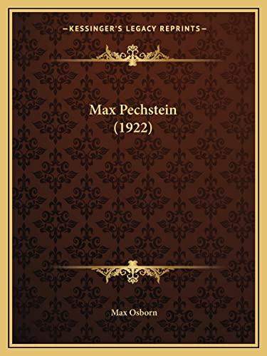 9781165426188: Max Pechstein (1922)
