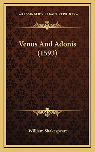 9781165498260: Venus And Adonis (1593)