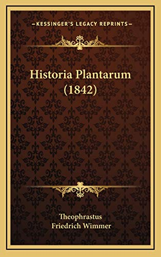 9781165514465: Historia Plantarum (1842) (Latin Edition)