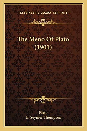 9781165547142: The Meno Of Plato (1901)