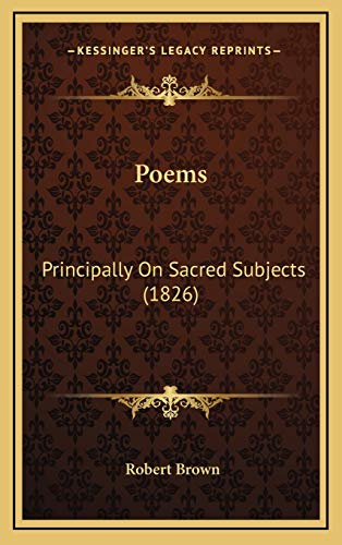 9781165710027: Poems: Principally On Sacred Subjects (1826)