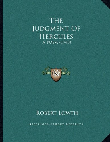 9781165743834: The Judgment Of Hercules: A Poem (1743)