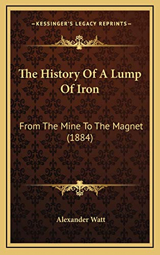 9781165823260: The History Of A Lump Of Iron: From The Mine To The Magnet (1884)