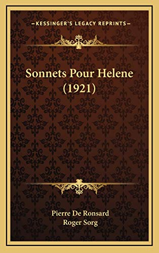 9781165841714: Sonnets Pour Helene (1921) (French Edition)
