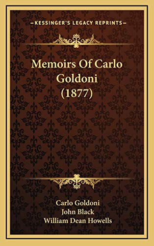 9781165866106: Memoirs Of Carlo Goldoni (1877)
