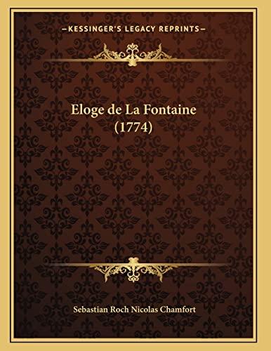 9781165883561: Eloge de La Fontaine (1774)