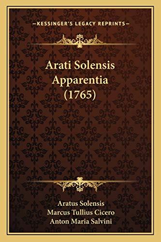 9781165902149: Arati Solensis Apparentia (1765)