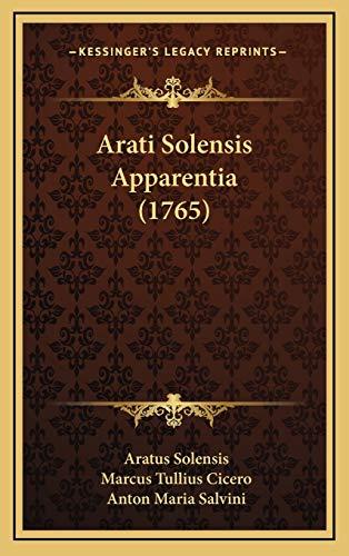 9781165960224: Arati Solensis Apparentia (1765)