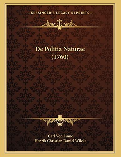 9781166008390: De Politia Naturae (1760) (Latin Edition)