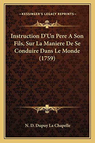 Instruction D`Un Pere A Son Fils, Sur