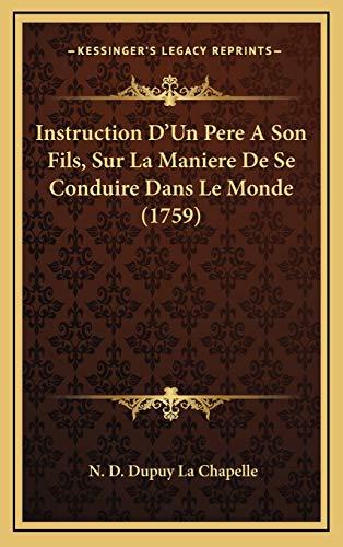 Instruction D'Un Pere A Son Fils, Sur