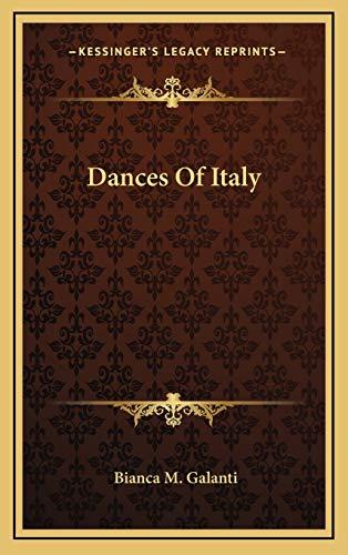 9781166119195: Dances Of Italy