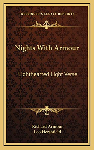9781166122249: Nights With Armour: Lighthearted Light Verse