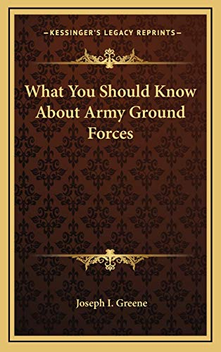 9781166126759: What You Should Know about Army Ground Forces