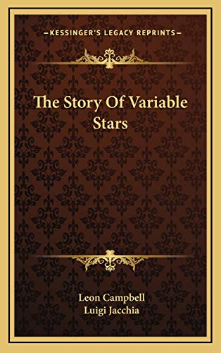 9781166128289: The Story Of Variable Stars