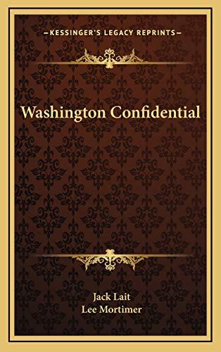 9781166134310: Washington Confidential