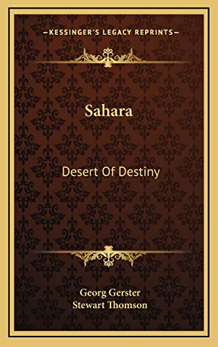 9781166134730: Sahara: Desert of Destiny