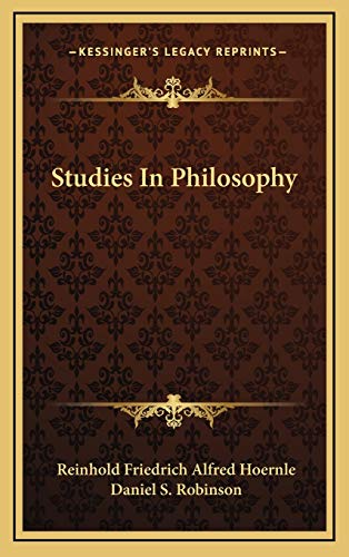 9781166135805: Studies In Philosophy