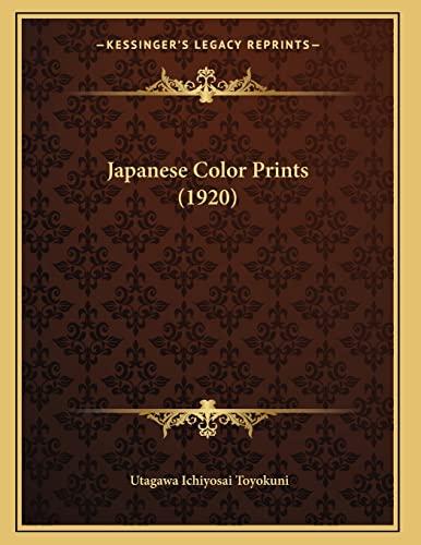 9781166145873: Japanese Color Prints (1920)
