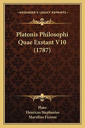 9781166195007: Platonis Philosophi Quae Exstant V10 (1787) (Latin Edition)