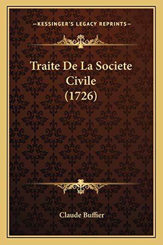 9781166205126: Traite De La Societe Civile (1726) (French Edition)
