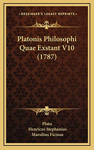 9781166252151: Platonis Philosophi Quae Exstant V10 (1787) (Latin Edition)