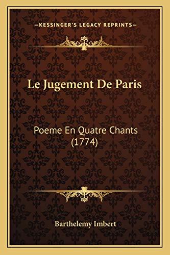 9781166309251 Le Jugement De Paris Poeme En Quatre Chants