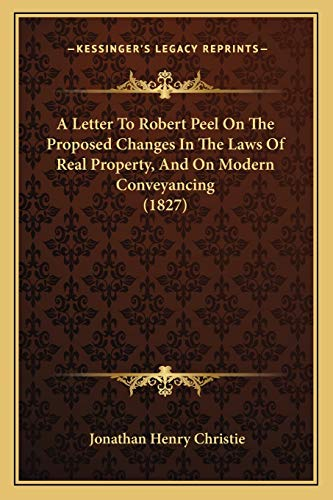 A Letter To Robert Peel On The