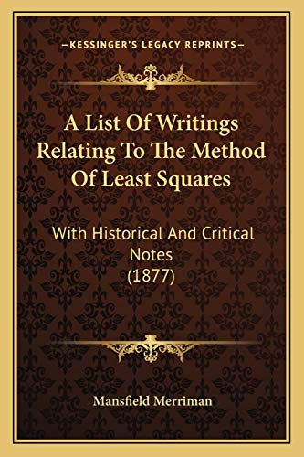 A List Of Writings Relating To The