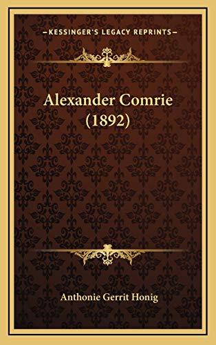 9781166535216: Alexander Comrie (1892) (Dutch Edition)