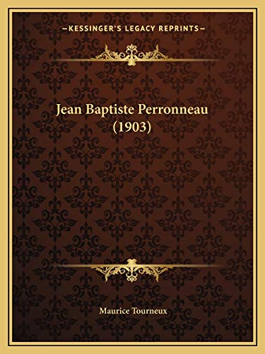 9781166564537: Jean Baptiste Perronneau (1903) (French Edition)