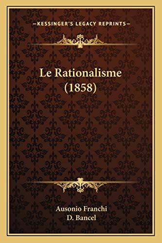 9781166769963: Le Rationalisme (1858)