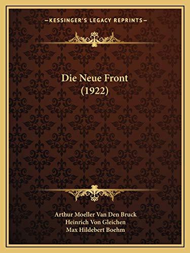 9781166783532: Die Neue Front (1922)