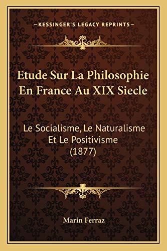 Etude Sur La Philosophie En France Au