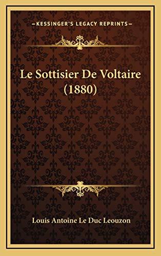 9781166829810: Le Sottisier de Voltaire (1880)