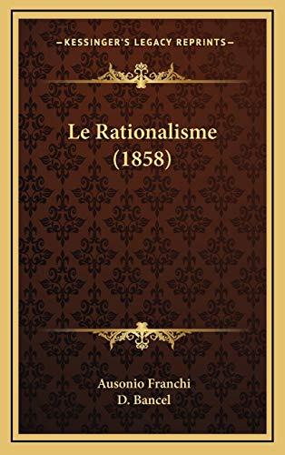9781166859992: Le Rationalisme (1858)