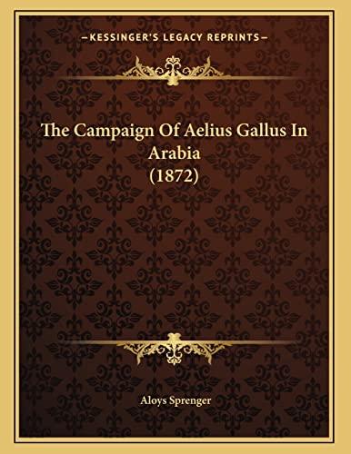 9781166904913: The Campaign Of Aelius Gallus In Arabia (1872)