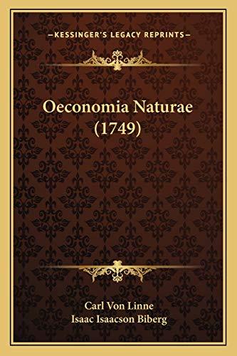 9781166924881: Oeconomia Naturae (1749)