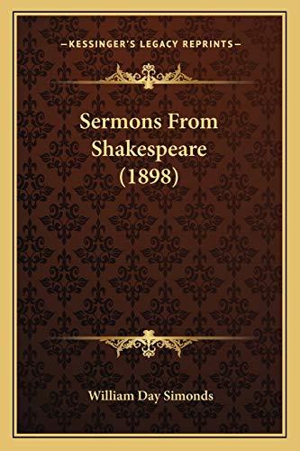 9781166944636: Sermons From Shakespeare (1898)
